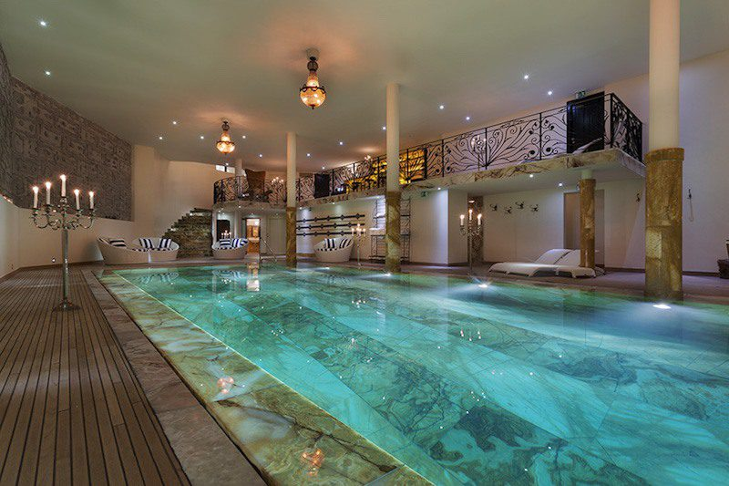 swimming pool chalet truffe blanche verbier lodge destinations