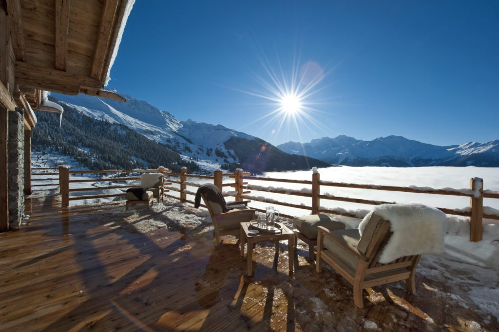 the alpine estate balcony view