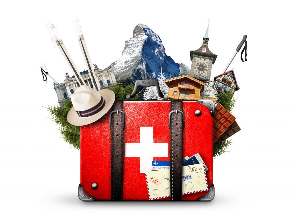 the image symbolize traveling around Switzerland
