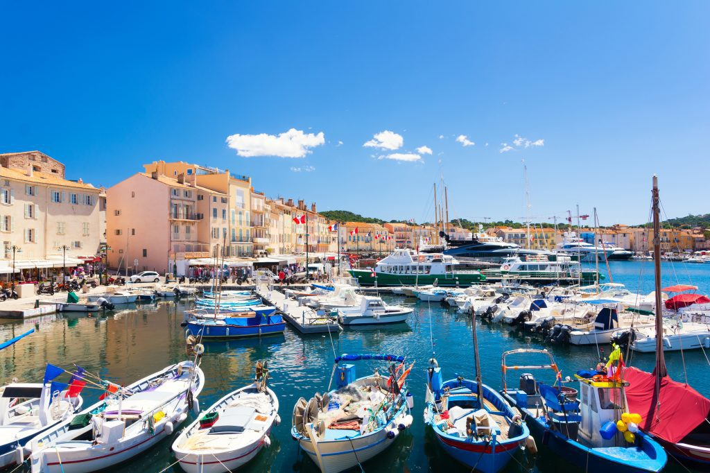 St Tropez, France, in summer