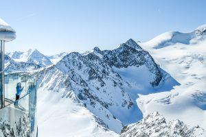 Austrias highest coffee house at mountain peak in Tirol