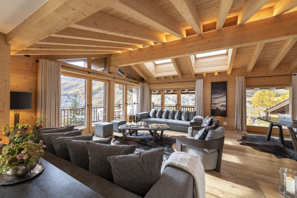 chalet Maurice living