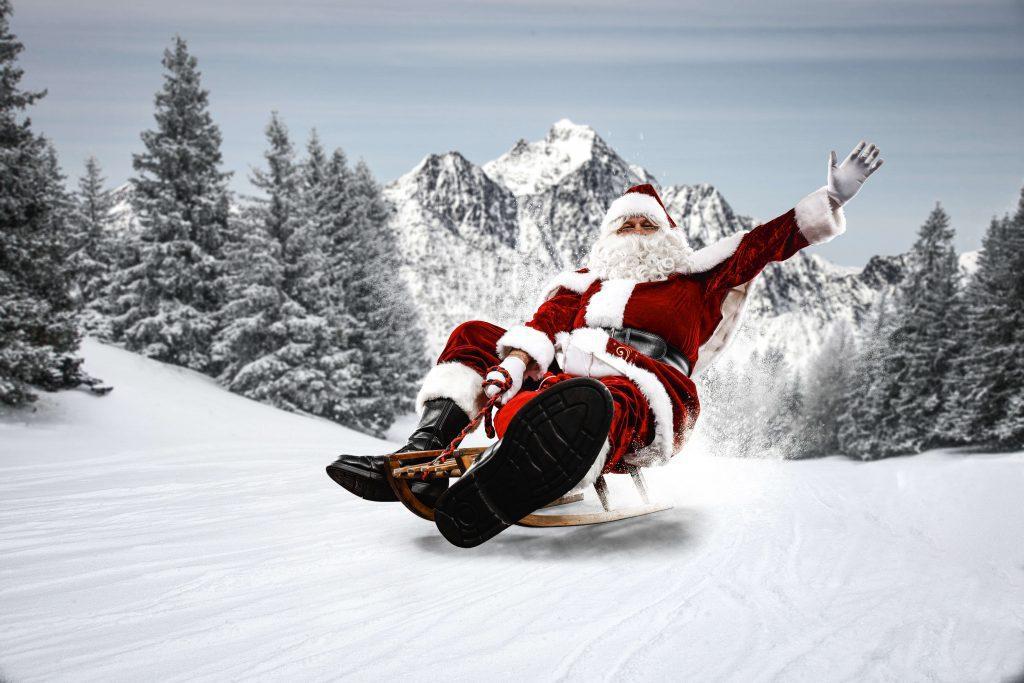 santa clause ski