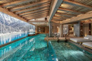 swimming pool of chalet Bruxellois Courchevel 1850