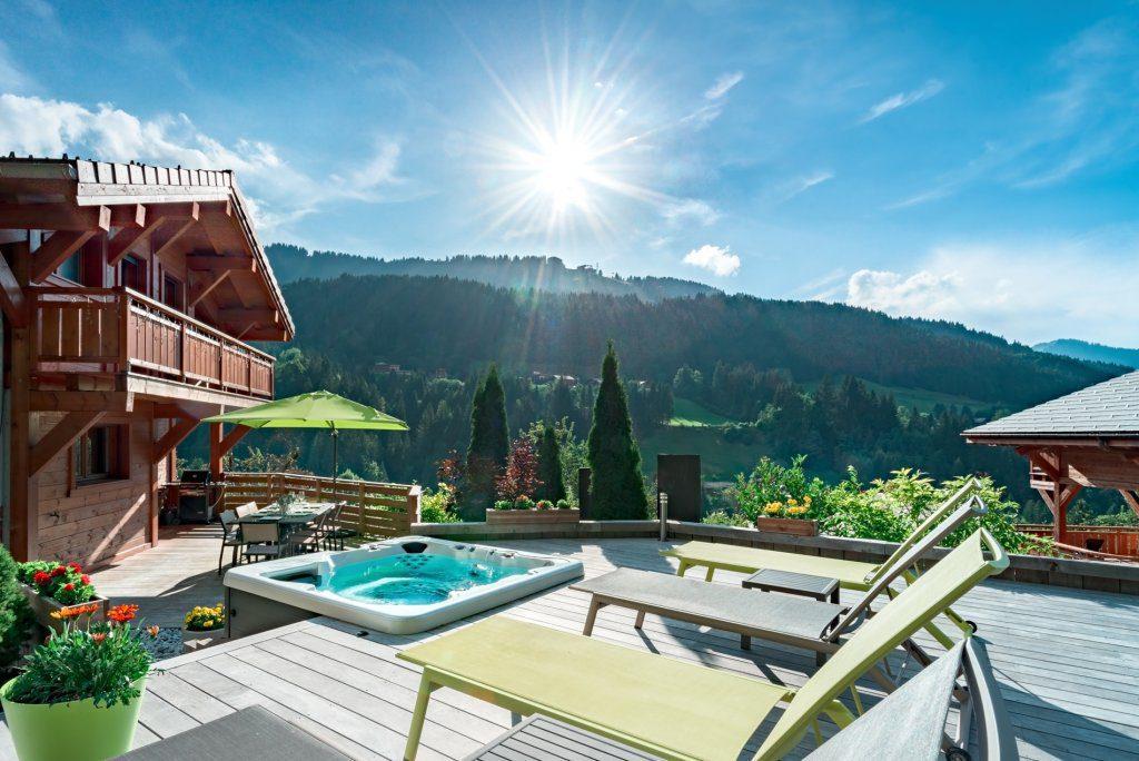 chalet aubois morzine sunny terrace