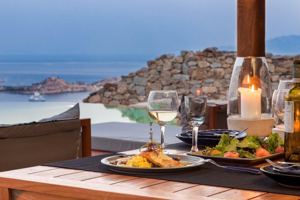 villa diaz mykonos dining details 2