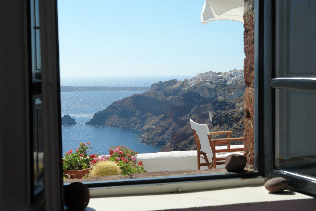 santorini window views