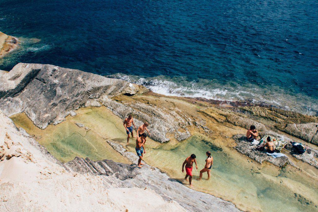 tourists ibiza beach