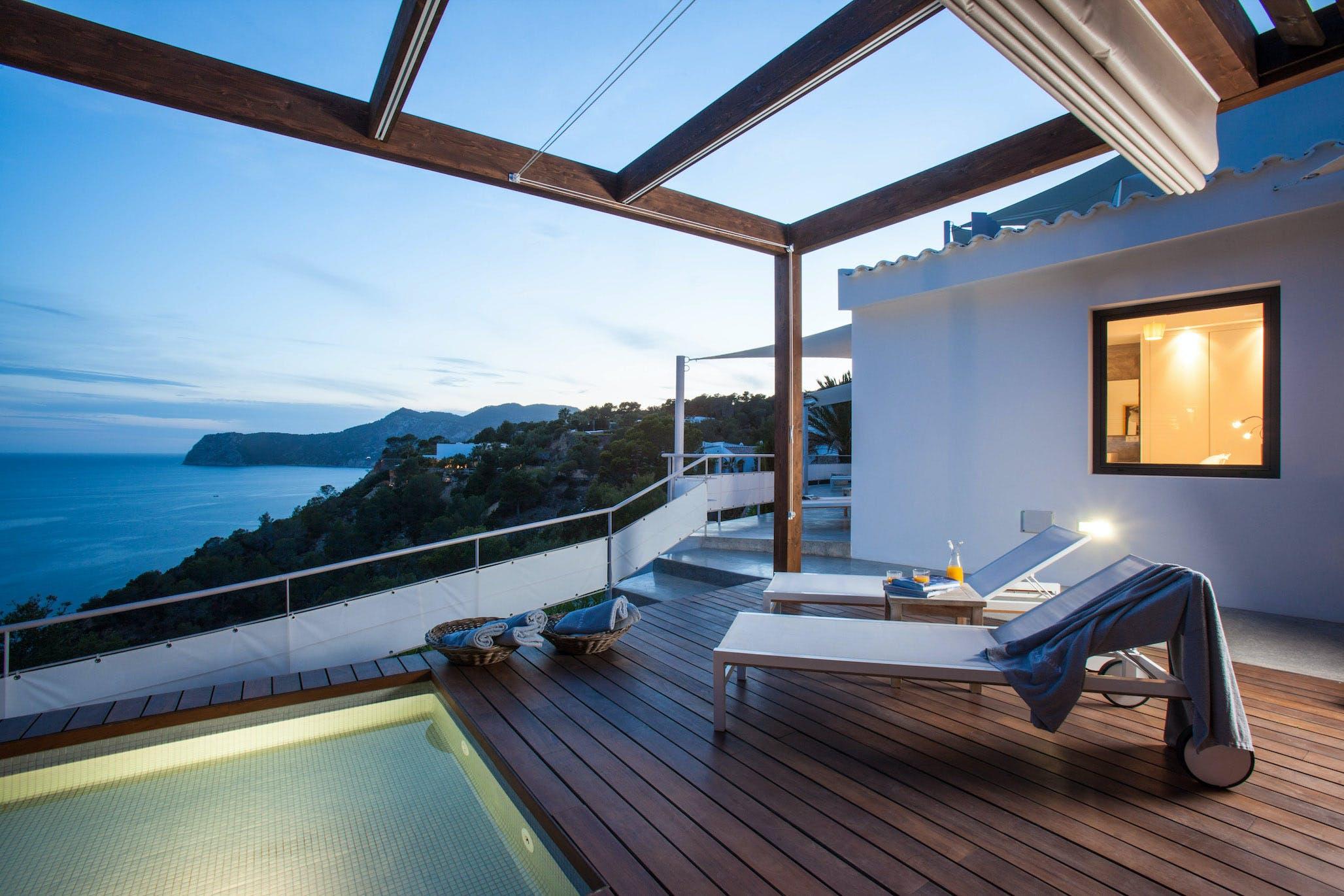 villa vista es torrent ibiza terrace night 2