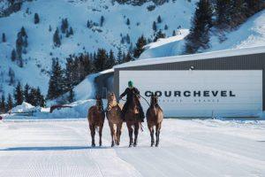 courchevel 1850 horses snow