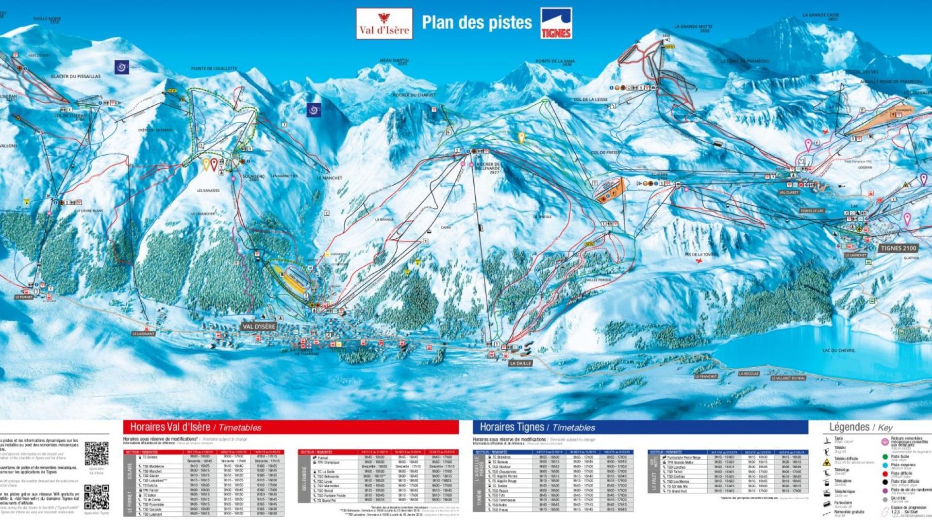 espace killy ski map