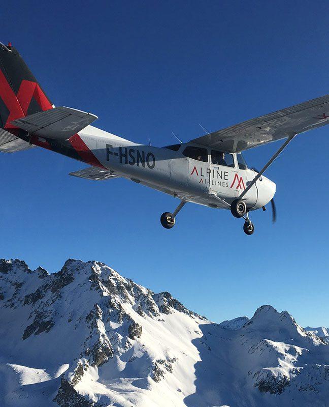Pano flight alpine airline courchevel