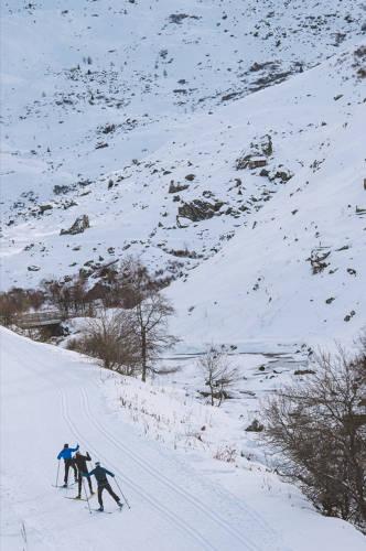 ski de fond Arthur bertrand les 3 vallees