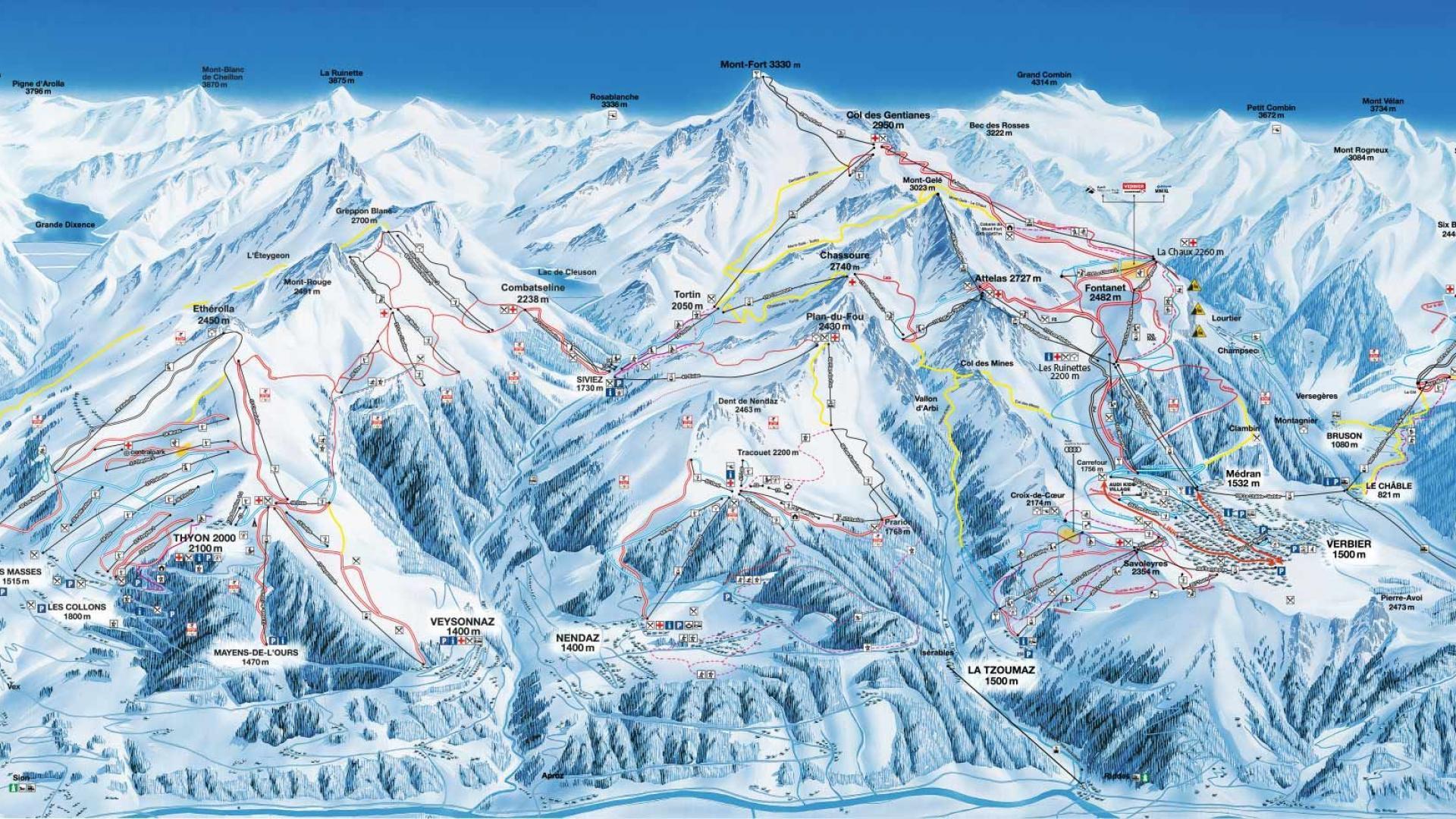 verbier ski map