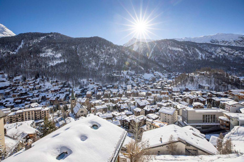 village view over to gornergrat 1